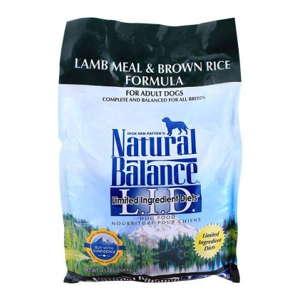 Natural Balance Adult Lamb Meal & Brown Rice Dog Food 2.04 KG