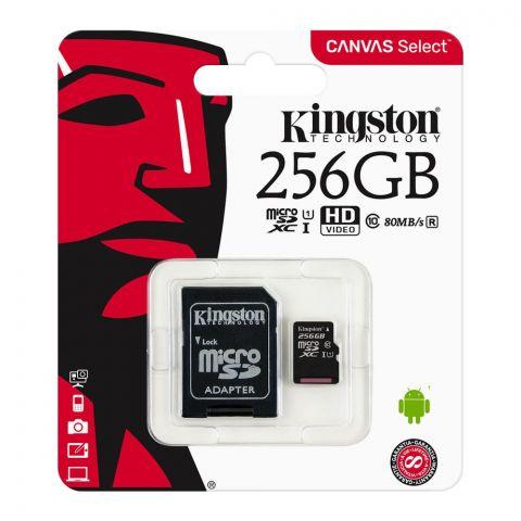 Kingston 256GB SDXC Micro SD Card, Class 10, Canvas Select