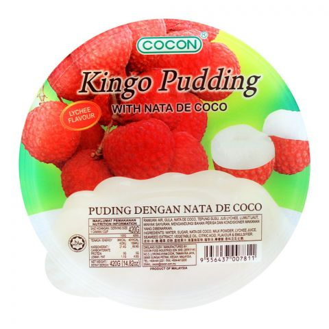 Cocon Kingo Pudding, Lychee Flavour, 420g