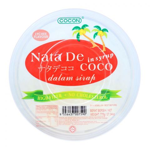 Cocon Nata De Coco In Syrup, Lychee Flavour, 775g