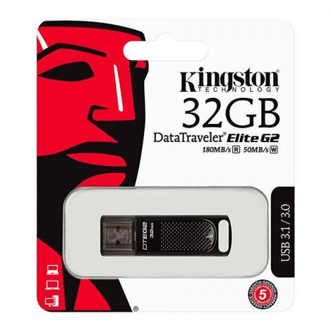Kingston 32GB Data Traveler Elite G2 USB Drive, 180MB/s, USB 3.1/3.0, DTEG2