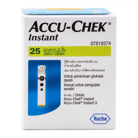 Accu-Chek Instant Blood Glucose Strip, 25 Count
