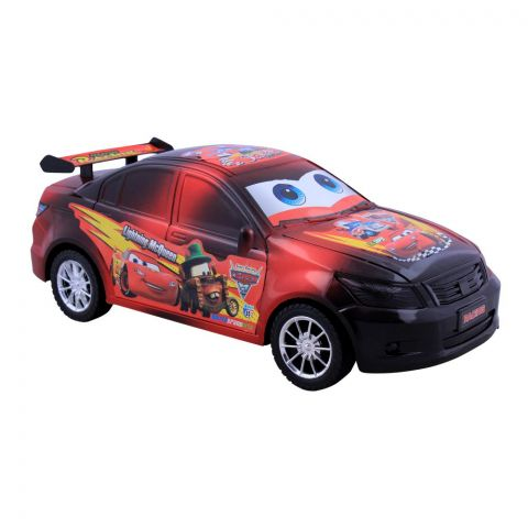 Live Long Friction Car, Red, 2016-1-R