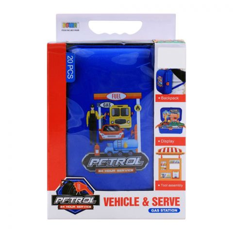 Live Long Petrol Station Backpack, 20 Pieces, 8019WB