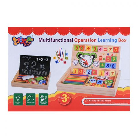 Live Long Wooden Multi Operation Learning Box, 2305-14