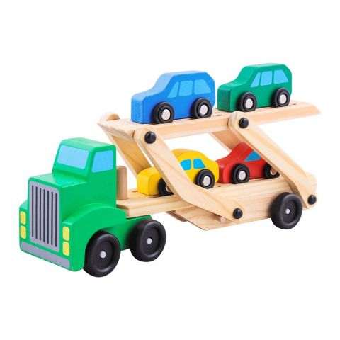 Live Long Wooden Truck With Cars, 2305-7