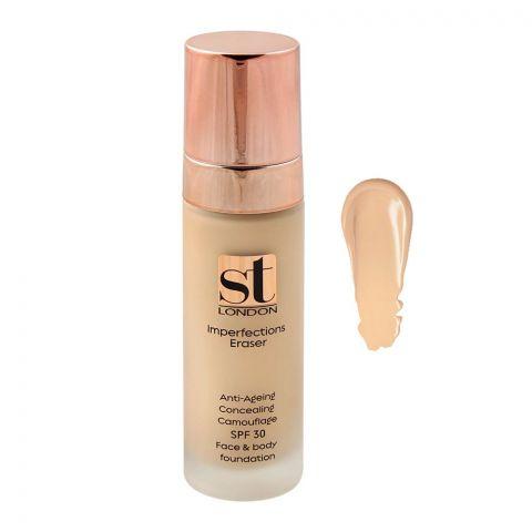 ST London Imperfection Eraser Face & Body Foundation, SPF 30, JE 02, All Skin Types