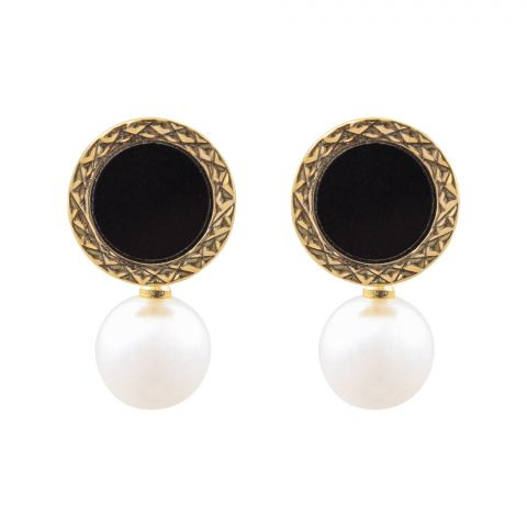 Girls Earrings, Black, NS-094