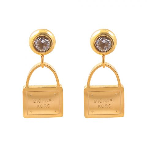 MK Style Girls Earrings, Golden, NS-096