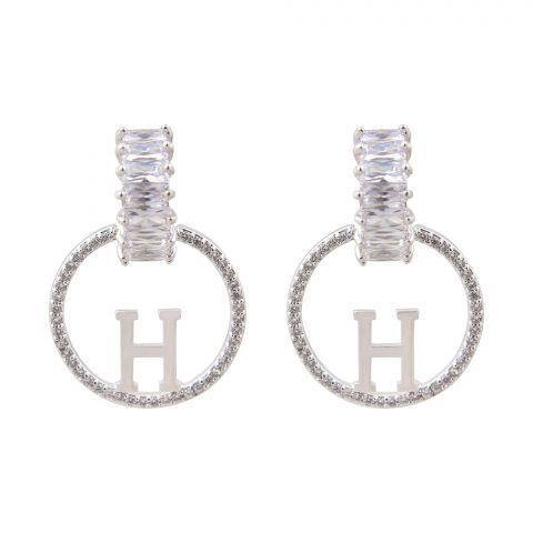 Hermes, Girls Earrings, Silver, NS-100