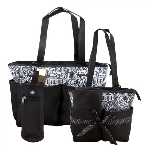 Colorland Black and White Doodles Baby Bag Set, 5 Pieces, BB999U